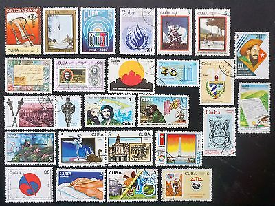 1Cuba  1987-1989  GREAT LOT of 25 different Commemorative Stamps  Lot #16   used