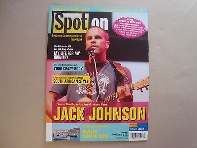 Jack Johnson rare SPOT ON import cover magazine