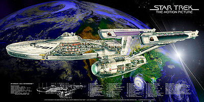 STAR TREK The Motion Picutres U.S.S. ENTERPRISE NCC-1701 REFIT  cutaway poster