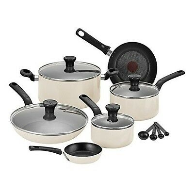 Tefal C719S744 7 Piece Excite Pots Pans Cookware Saucepan Set, Cream