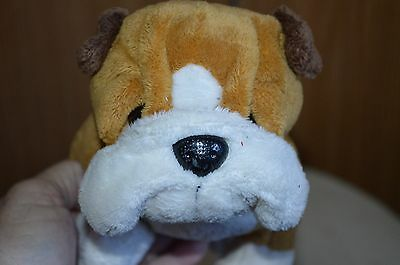 Bulldog stuffed plush animal Ganz tan brown & white