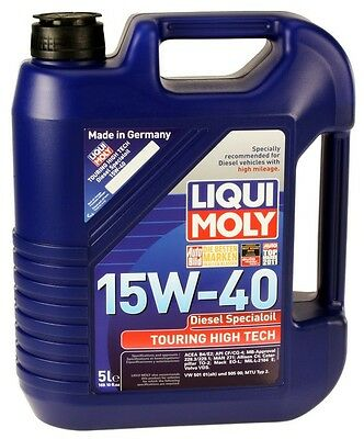 LiquiMoly Touring High Tech Diesel 15W-40 Motor Oil - 5 Liters