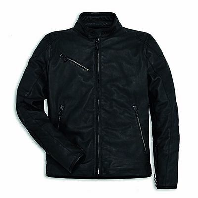 Ducati Men's Downtown Perforated Leather Jacket Black Size 56 - 981032656
