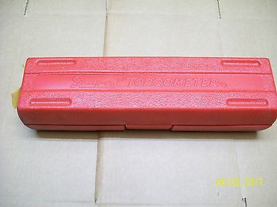 Snap On Tools Torqometer Torque Wrench Red Plastic Carrying Case Only , Te50A