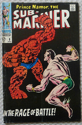 SUB-MARINER 8, ORIGINAL MARVEL (Classic Cover with THE THING)