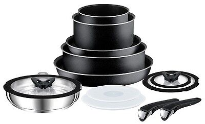 Tefal Ingenio Essential 13 Piece Non-stick Cookware Set Black L0368042