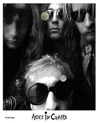 ALICE IN CHAINS PRESS PUBLICITY PROMO NEW GLOSSY 8x10 PHOTO REPRINT 90's GRUNGE