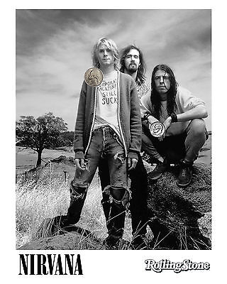 NIRVANA ROLLING STONE PRESS PROMO NEW GLOSSY 8x10 PHOTO REPRINT 90's GRUNGE!