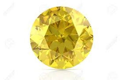15.00 mm. SAPPHIRE CANARY YELLOW LOOSE 15.00 CT. DIAMOND-SPARKLING REINFORCED