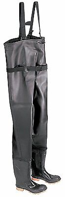 NEW Onguard Chest Waders - Black Size 6 - Plain Toe w Steel Shank - Made in USA