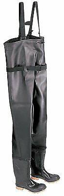 NEW Onguard Chest Waders - Black Size 8 - Plain Toe w Steel Shank - Made in USA