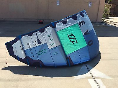 2017 North Evo 8m Kiteboarding Kite with bag only...ready to fly