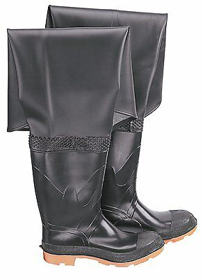 NEW Onguard Hip Waders - Black Size 9 - Plain Toe w Steel Shank - Made in USA