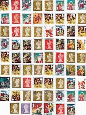 171 x Mixed Unfranked Stamps Face Vaue £100 Off Paper With Faults