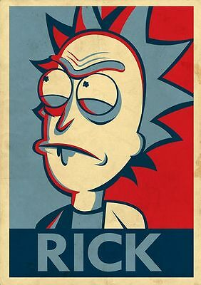 """Rick and Morty """"Rick"""" - A4 Glossy Poster -TV Film Movie Free Shipping #53"""