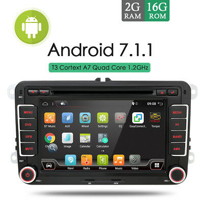 2G Ram Android 7.1 Autoradio Mit GPS Navi Bluetooth DVD USB WIFI for Volkswagen