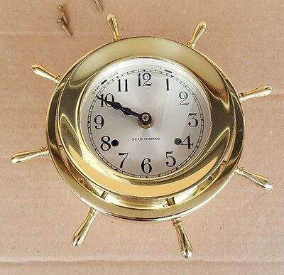 Helmsman E537-001 Brass Nautical Wall Clock