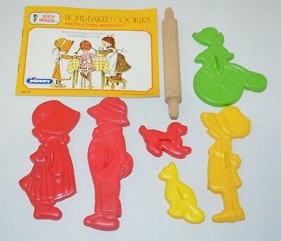 Vintage Holly Hobbie Cookie Cutters Home Baked Instructions 1976 Pillsbury