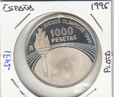 E5431 Moneda España 1000 Pesetas 1996 Plata Proof