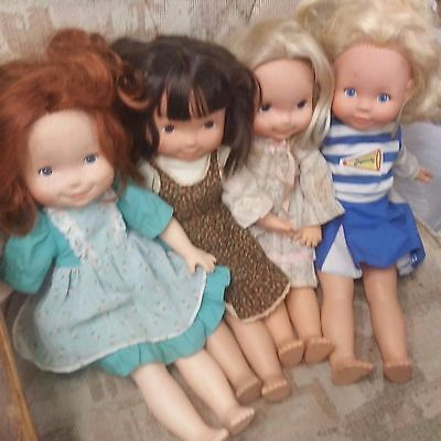Vintage Fisher Price, My Friend Dolls, Lot Of 4