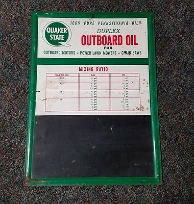 quaker state outboard oil , chalkboard sign gas