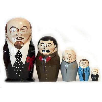 Lenin and other Russian Political Leaders Collectible Matryoshka Nesting Doll