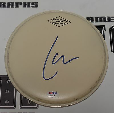 """Lars Ulrich Signed 9"""" Drumhead PSA/DNA COA Metallica Load Reload Anger Autograph"""