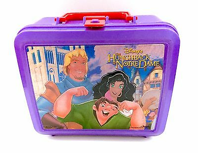 Vintage Hunchback of Notre Dame Disney Aladdin Lunchbox Lunch Box Thermos 90s