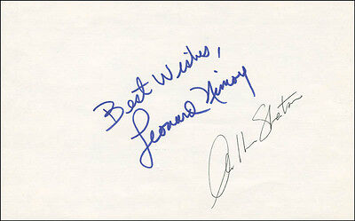 Star Trek Tv Cast - Autograph Sentiment Signed With Co-Signers