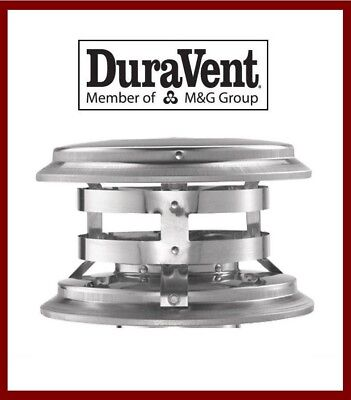 """DURAVENT 6"""" DuraTech Vent Pipe Stainless Steel Chimney Cap  #6DT-VC NEW!"""