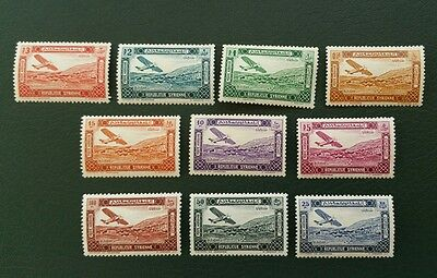 Syria, 1934, Sc C57-C66, MNH, complete airmail set, rare as MNH, Very Fine.