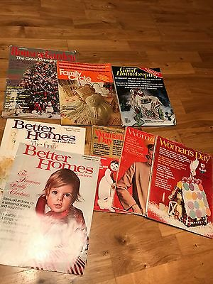 1970s magazines, House& Garde, Family Circle, Good Housekeeping, Better Homes,