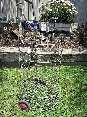 Vintage Folding Collapsible Laundry Shopping Cart Antique Recycling Swap Meet B