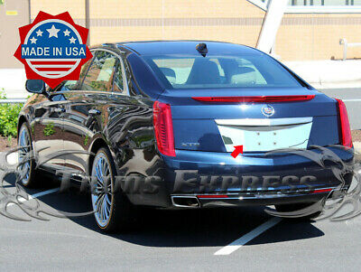 2013-2018 Cadillac XTS License Plate Trim Backdrop Chrome Stainless Steel