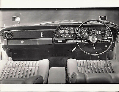 Ford Executive Walnut Facia Panel Dashboard Period Photograph.