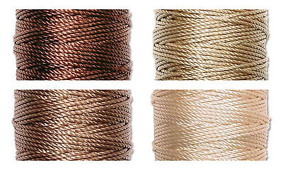 S-Lon Superlon Bead Cord Tex 400  Heavy  .9mm  Brown  Mix - 4 spools