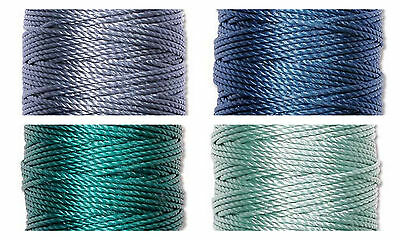 S-Lon Superlon Bead Cord Tex 400  Heavy  .9mm Sea Mix - 4 spools