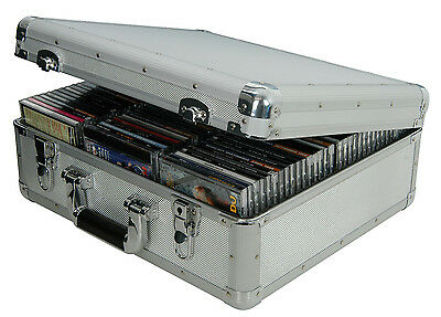 96x CD/DVD/BLU-RAY DISC CARRY CASE ALUMINIUM STORAGE BOX FLIGHTCASE 127.060