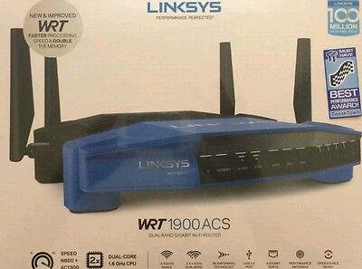 Linksys AC1900 Dual Band Open Source WiFi Wireless Router WRT1900ACS USB NEW