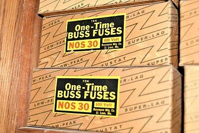 Buss Bussmann ONE TIME FUSE NOS-30 30A 600V Class K5 NOS30 NEW LOT of 4