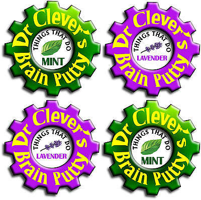 Dr Clever's Brain Putty Concentration Thinking Therapy Relaxation Free Fast Post