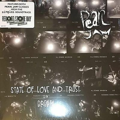 "Pearl Jam - State Of Love & Trust Breath 7"" vinyl RSD Record Store Day NEW [X1]"