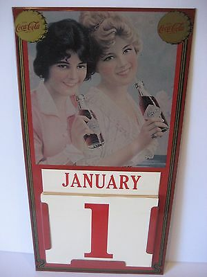 Vintage Coca Cola Wall Calendar 1981 Coke Metal Tin