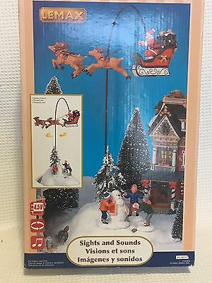 Lemax Village Collection Sights And & Sounds. Santa Flying. Christmas
