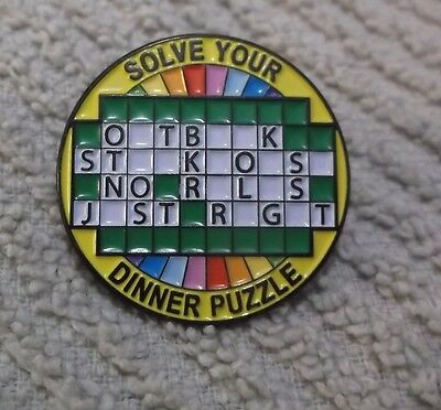 Outback Steakhouse Lapel Pin Solve Your Dinner Puzzle By The Pin Center