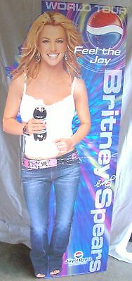 Britney Spears Life Size Feel The Joy 6' Pepsi Stand Up Standee World Tour