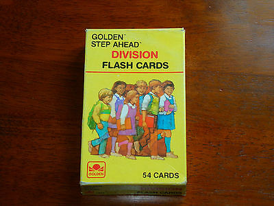 Vintage 1984 Golden Step Ahead Division Flash Cards 54 Cards used good condition