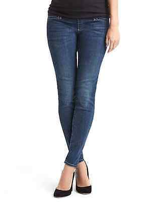 New Gap Maternity True Skinny Jeans Size 4 (27) demi panel Reg $74.95 214201