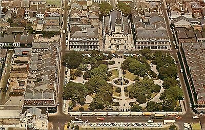 New Orleans Louisiana~Aerial Of Jackson Square~Place d' Armes~1950s Postcard