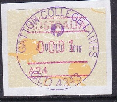 *QUEENSLAND RUBBER POSTMARKS.GATTON COLLEGE LAWES.2016.In violet.*